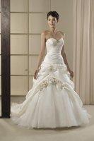 Free Shipping!sweet neckline ball gown flowers court train wedding dress ladies fashion dresses 2013