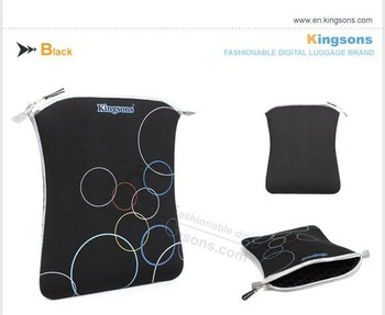 """Wholesale&Free Shipping!!!Kingsons Colorful 13.3"""" Tablet PC Laptop Computer Sleeve notebook sleeve Both side can use KS6127W-B"""