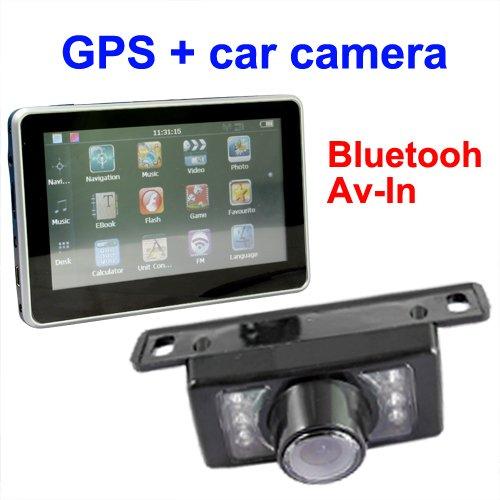 4.3 inch 4GB TF memory reversing camera car gps navigation system bluetooth reverse camera(China (Mainland))