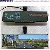 4.3 inch Rear View Mirror GPS with DVR, Bluetooth,FM/AM,Wireless Camera, Radar Detector, with Special Bracket