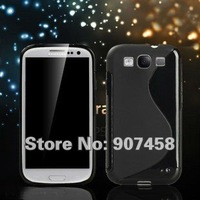 Galaxy S3 I9300 case Soft Skin S line tpu case, New Design Soft Abrasion TPU case for Samsung Galaxy S3 I9300 Free shipping