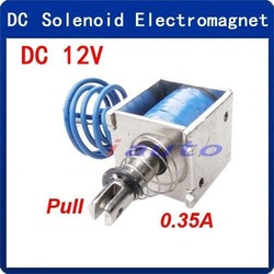 DC 12V 0.35A Pull Type Open Frame Actuator Linear Solenoid Electromagnet 10mm 20N(China (Mainland))