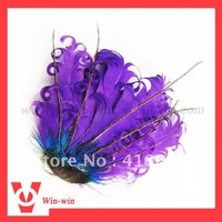 hot sale purple baby curly goose feather headband/head clip+ Free shipping+ fast delivery