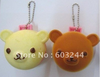 Free Ship 20 Piece Mixed Bear Rilakkuma Squishy Charm Pocket Cosmetic Mirror Cell Phone Mobile Bag Pendant  Strap Christmas Gift