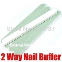 Free Shipping (40 Pcs/Lot) 2 way Magic Nail Buffer /Nail Manicure Buffering File Wholesale
