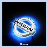 Car LED Decal Logo Light Badge Emblem Sticker Lamp Blue For Nissan Livina