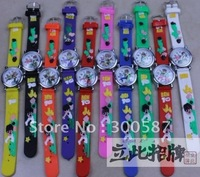 Wholesale - New Ben10 3D Cartoon Children watch Watches ben 10 Kids bairn Wristwatches