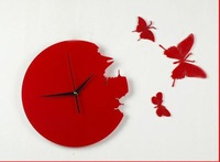 free shipping!butterfly wall clock/High quality wall clock/Decorative DIY Home decoration Wholesale&Retail