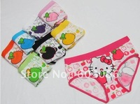 Hot Sale Fashion Girl's hello kitty underwear/ cartoon Brief/lady's briefs/ lady's panties/ 6 colors LSU0601-13