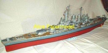 [Alice papermodel] Long 1.2 meter 1:200 WWII US battleship USS Washington ship models