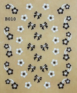 Stereo nail beauty stickers,black and white pasters, fingernail flowers.free shipping.