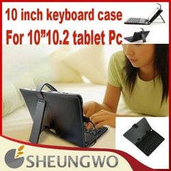 "Direct Marketing High Quality PU 10"" 10.2 inch tablet pc ePad MID keyboard case with RUSSIAN Russia letters Free shipping(China (Mainland))"
