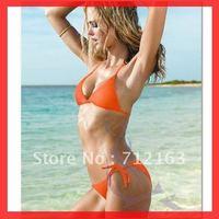 Free Shipping~With Pad lined inside ! Sexy bandeau bikini push up swimsuit padded swimwear RT3042  (Buy>=2pcs,Gift 1sunglass