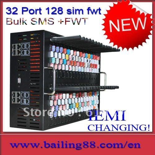 128 SIM 32 port FWT(fixed wireless terminal) ,GSM gateway ,bulk SMS machine,voip gateway(China (Mainland))