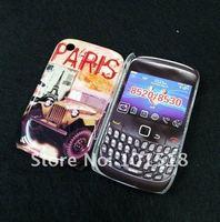 Free shipping &10pcslot  Retro Old Paris LA Tour Eiffel Tower hard Case Cover  For BlackBerry Curve 8520
