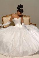 2012 New Best Selling strapless satin Designer Wedding Dresses Bridal Gown back:lace-up