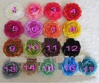 4 inch Ruffle Ranunculus flowers New design! fashion baby flower girls' Hair bow 60pcs durtu