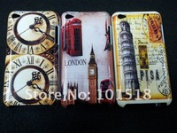 Free shipping &50pcslot  Retro Old Paris LA Tour Eiffel Tower hard Case Cover  For iPod Touch 4 4G