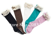 20 pairs/lot children's ballet socks girl's high knee boot socks leg warmer beautiful hose free shipping