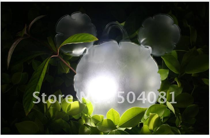 free shipping Solar Inflatable led night light/ Portable Lantern light,Waterproof&Foldable romantic gift / love heart mickey fun(China (Mainland))