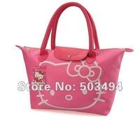 Retail 1PCS Pink RED Black PU Hello Kitty Hello Kitty Lovely Waterproof Handbags Shoulder bag Free shipping