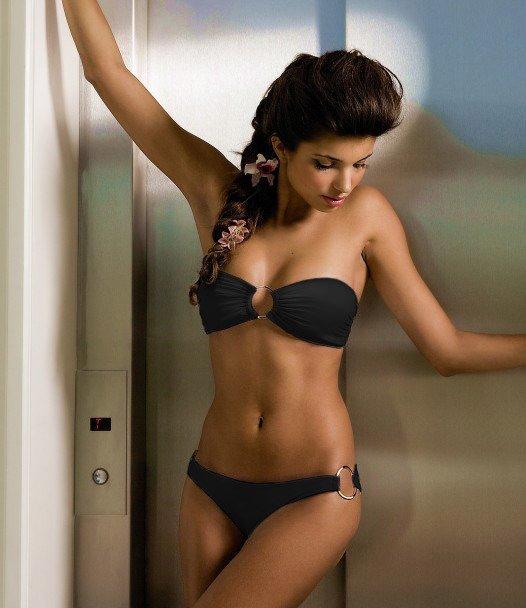 Best New Women Wholesale Swimwear Sexy Lace Bikini Set Black White