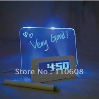 Alarm Clock LED Light LCD Projection Digital Weather Thermometer Snooze Station Free Shipping China Good Product