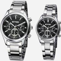 NEW MODEL!FREE SHIPPING!! EYKI casual quartz wrist watch,factory supply.men's women's watch 4 colours,min.18pcs.w8581