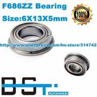 New Flange F686ZZ Ball bearing 6x13x5mm Miniature Ball Radial Ball Bearings 6*13*5mm