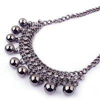 C237 моды персонализированных старинных Спайк нагрудник воротник ожерелье jewery! магазин хрусталя