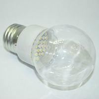 24pcs 3528 SMD 18 LEDs 220V 1W 80LM E27 LED transparent cover bubble ball bulb, special design LED lamp,Low carbon fast shipping