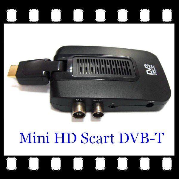 MINI HD SCART DVB-T MPEG-4 HDMI PORT DVB Digital Video Broadcasting Digital Receiver Free Shipping(China (Mainland))