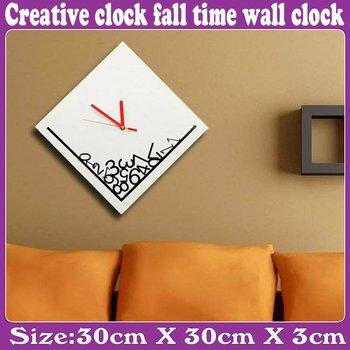 5 pcs/Lot_Creative clock fall time wall clock_Free Shipping