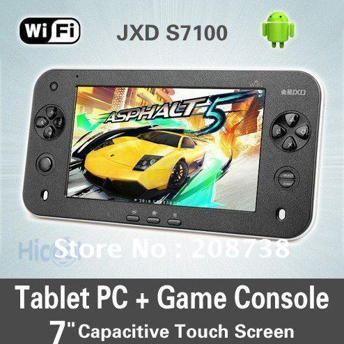 Free shipping JXD S7100 BEST 8GB Game Console Tablet PC Android2.3 Capacitive Cortex A9 games(China (Mainland))