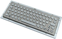 IP65 anti-vandal stainless steel kiosk keyboard(X-NP681B-S)