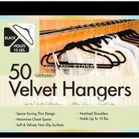 Gift color box Ultra Thin No Slip Velvet Hangers Set of 50