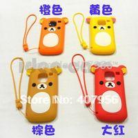 New Design Rilakkuma Lazy Bear Soft Back Case for Nokia E5 E5-00,With high quality,1pcs min order