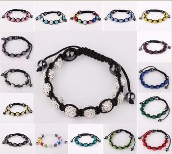 PDRB-SB001,T-Paris , Shamballa Crystal , free shipping,9 ball ,polymer clay,Handmade Bracelet, Ball Bead Shamballa Bracelet