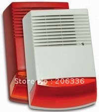 free shipping 1 piece Sale Outdoor waterproof Alarm siren with strobe(China (Mainland))