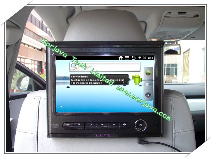 "Car & Home Usage headrest monitor 9"" android 2.3.5 CPU 1GHz WIFI 3G E-book Game HDMI output RMVB/RM/AVI HD 1080p(Hong Kong)"