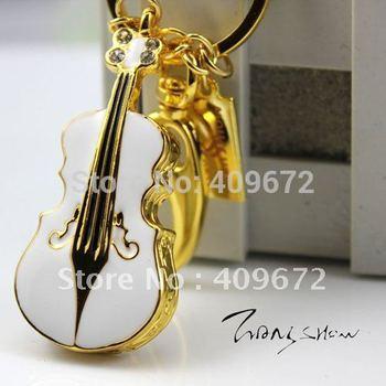 Retail genuine  2GB 4GB 8GB 16GB 32GB usb stick pen drive metal violin jewelry usb flash drive Free shipping+Drop shipping