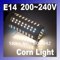 5Pcs/Lot 112 LED 5.5W E14 Warm White Light SMD 3528 Corn Light Led Bulb Lamp 3000~3500K 200V-240V Free Shipping 2731