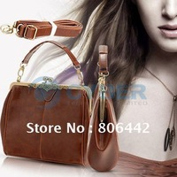 2012 New Retro Vintage Ladies Lock  Shoulder Purse Handbag Totes Bag   2767
