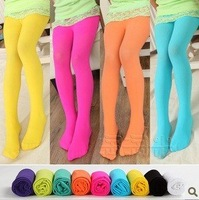 2012 Newest Designes  5pcs/lot Colorful Children's Stockings 9 Colors Gril's Stockings 3 Sizes