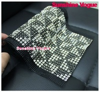 Rhinestone mesh, triangle design, sew on crystal Mesh with SS18 stone & black pearl,garment accessories. 5yards/roll, DHL free