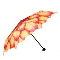 wholesale High quality umbrella, UV umbrella, Sunflower 3 folding Umbrella 15pcs a lot