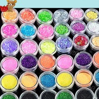 Акрил для ногтей High Quailty 45 Colors Shine Nail Glitter Powder Nail Art Fine Dust Set 2056