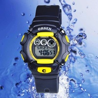 OHSEN Waterproof  Backlight Digital Boys Girls Sport Watches 1205-3