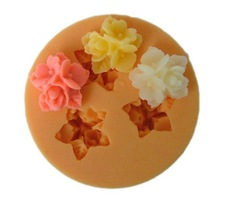 3D F0031 3pcs flowers 1.6cm Silicone resin chocolate handmade soap mold Mould(China (Mainland))