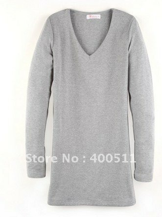 free shipping spring new style ladies long sleeve slim fit tshirt cotton S5921(China (Mainland))